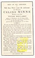 DP Celine Minne ° Dikkebus Ieper 1878 † Roeselare 1944 X Victor Moulaert - Images Religieuses