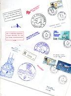 Pli Recommandé De Terre Adélie (  Cachet Du Navire L'Astrolabe ) Plus 2 Plis Du M/S POLAR BJORN ) - Timbres