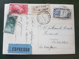 (18627) STORIA POSTALE ITALIA 1952 - 1946-60: Storia Postale