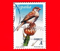 SPAGNA - Usato - 2006 - Flora E Fauna - Uccelli - Passero Domestico - Passer Domesticus - A - 1931-Oggi: 2. Rep. - ... Juan Carlos I