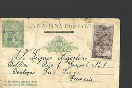 Entier Postal - Interi Postali
