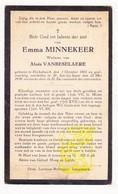 DP Emma Minnekeer ° Dikkebus 1865 † St.-Jan Ieper 1939 X Aloïs VanBeselaere - Images Religieuses