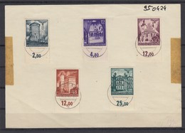 GG Generalgouvernement MiNr. 66-70, Unterrand, Gestempelt Krakau - Besetzungen 1938-45