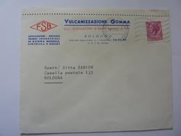"""Busta Viaggiata """"VULCANIZZAZIONE GOMMA FSB - BOLOGNA"""" 1966 - 6. 1946-.. Repubblica"""