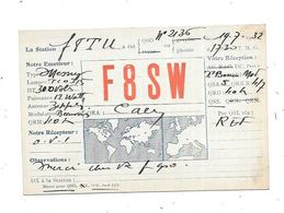 14 - CAEN : Carte QSL De 1932 Au Verso Pub PHILIPS - Radio Amateur