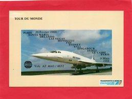 Carte Neuve ( TOUR Du Monde  PARIS / PARIS  VolsAF4643/4652 ) - Timbres