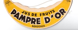 Bordeaux (33 Gironde) Visière Publicitaire  PAMPRE D'OR (PPP10205) - Advertising