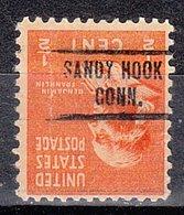 USA Precancel Vorausentwertung Preo, Locals Connecticut, Sandy Hook 734 - Vereinigte Staaten