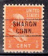 USA Precancel Vorausentwertung Preo, Locals Connecticut, Sharon 745 - Vereinigte Staaten