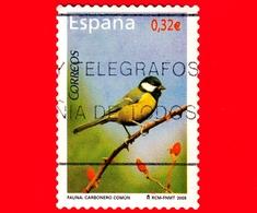 SPAGNA - Usato - 2009 - Flora E Fauna - Uccelli - Cinciallegra Su Ramo Di Rosa - Parus Major - 0.32 - 1931-Oggi: 2. Rep. - ... Juan Carlos I