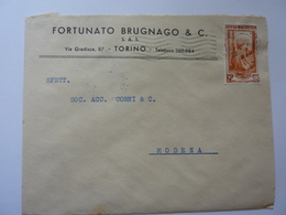 "Busta Viaggiata Pubblicitaria ""FORTUNATO BRUGNAGO & C. S.A.S. "" 1953 - 1946-60: Storia Postale"