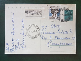 (18633) STORIA POSTALE ITALIA 1958 - 1946-60: Storia Postale