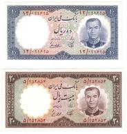 Iran 10-20 Rials 1958 , UNC. - Iran