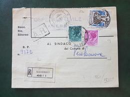 (18634) STORIA POSTALE ITALIA 1958 - 1946-60: Storia Postale
