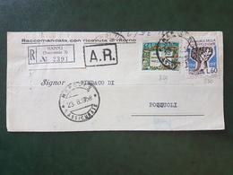 (18635) STORIA POSTALE ITALIA 1958 - 1946-60: Storia Postale