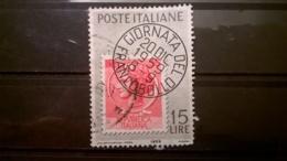 FRANCOBOLLI STAMPS ITALIA ITALY 1959 USED GIORNATA DEL FRANCOBOLLO SASSONE 879 - 1946-60: Usati