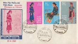 Enveloppe  FDC   1er  Jour   VIETNAM   Minorités  Ethniques   1969 - Viêt-Nam