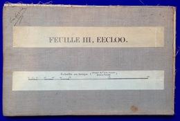 STAFKAART Op Linnen Blad III EEKLO ©1912 LOKEREN ZELZATE WACHTEBEKE LIEVEGEM ASSENEDE MALDEGEM SCHELDE BRESKENS S886 - Eeklo