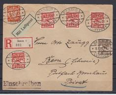 Danzig R-LP-Auslandsbrief MiF 193,4x202,204 O Danzig 1/Luftpost 11.9.26 In Die Schweiz (rs. Ak-o ) - Danzig