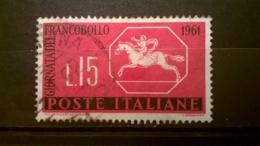 FRANCOBOLLI STAMPS ITALIA ITALY 1961 USED GIORNATA DEL FRANCOBOLLO SASSONE 935 - 6. 1946-.. Repubblica