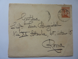 Busta Viaggiata Da Godo ( Ravenna ) A Roma 1918 - Storia Postale (Posta Aerea)