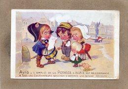 CPA - Environs De MULHOUSE (68) - Publicité Des Sels De Potasse D'Alsace - Le Crieur Public - Advertising