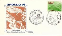 Busta  APOLLO 14  Celebrazione Viaggio Terra-Luna 1971 - FDC & Commemorrativi