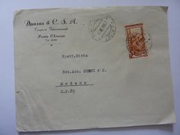 """Busta Viaggiata Pubblicitaria """"Danzas & C. S. A. Trasporti Internazionali PONTE CHIASSO"""" 1953 - 1946-60: Storia Postale"""