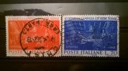 FRANCOBOLLI STAMPS ITALIA ITALY 1962 USED SERIE COMPLETA MORTE GIOVANNI PASCOLI - 6. 1946-.. Repubblica