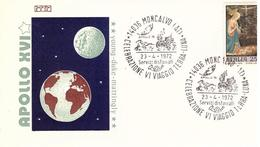 Busta  APOLLO 16  Celebrazione Viaggio Terra-Luna 1972 - FDC & Commemorrativi