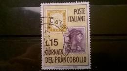 FRANCOBOLLI STAMPS ITALIA ITALY 1962 USED GIORNATA DEL FRANCOBOLLO SASSONE 952 - 6. 1946-.. Repubblica