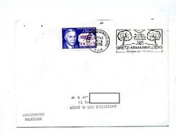 Lettre Flamme Gretz Berceau Aviation - Marcophilie (Lettres)