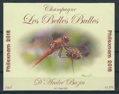 Etiquette Pour Bouteille De Champagne Philexnam 2018 à Ciney. - 1985-.. Oiseaux (Buzin)