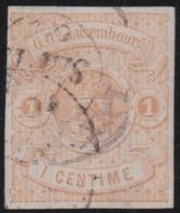 Luxembourg    .     Yvert  .     3          .       O      .         Gebruikt  .     /   .   Cancelled - 1859-1880 Armoiries