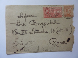 Busta Viaggiata Espresso Da Godo ( Ravenna ) A Roma 1918 - 1900-44 Vittorio Emanuele III