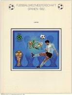 Championat ESPANA 1982 Libya Block 61 Imperf.** 10€ Fußball-WM Spieler Hoja S/s Bloc Sheet M/s FIFA Football Soccer - Libya