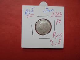 Albert 1er. 50 Centimes 1914 FR ARGENT (DATE PLUS RARE) - 1909-1934: Albert I