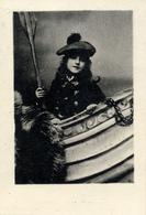Early Advertisement Card,  Girl In Boat, Werven V.d.Neut,Horlogemaker Rotterdam - Reclame