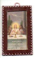 H Hart Devotie Devotion Devotieprent  Bidprentje Genaaid In Leder Coussu En Cuiire Prentje - Images Religieuses