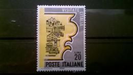 FRANCOBOLLI STAMPS ITALIA ITALY 1966 USED PROPAGANDA PER IL TURISMO SASSONE 1024 - 6. 1946-.. Repubblica