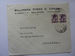 """Busta Viaggiata Pubblicitaria """"BULLONERIA VITERIA CIPRIANI Milano"""" 1963 - 1944-... Republik"""