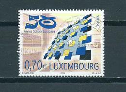 2004 Luxemburg European School Used/gebruikt/oblitere - Luxemburg