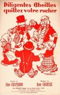 APICULTURE-VERS 1935-SUPERBE PARTITION ILLUSTREE PIANO CHANT A 2 VOIX DEDIée AUX ABEILLES ET RUCHES - EXCT ETAT -. - Partituras