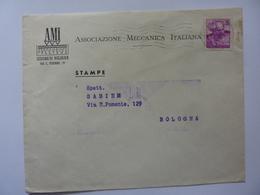 """Busta Viaggiata Pubblicitaria """"ASSOCIAZIONE MECCANICA ITALIANA Sezione Di Bologna"""" 1964 - 6. 1946-.. Repubblica"""