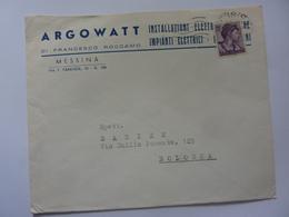 """Busta Viaggiata Pubblicitaria """"ARGOWATT Messina""""  1964 - 6. 1946-.. Repubblica"""