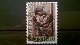 FRANCOBOLLI STAMPS ITALIA ITALY 1966 USED 5° CENTENARIO MORTE DONATELLO SASSONE 1028 - 6. 1946-.. Repubblica