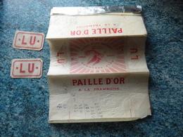 LU EMBALLAGE  PAILLE D'OR FRAMBOISE  LEFEVRE-UTILE-NANTES  VOIR PHOTOS - Advertising