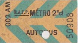 Ticket Magnetique Tarif B - Subway