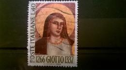 FRANCOBOLLI STAMPS ITALIA ITALY 1966 USED 7° CENTENARIO MORTE GIOTTO SASSONE 1031 - 6. 1946-.. Repubblica