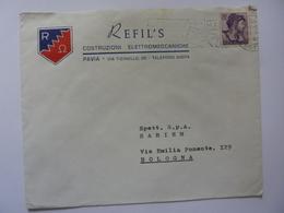 """Busta Viaggiata Pubblicitaria """"REFIL'S COSTRUZIONI ELETTROMECCANICHE PAVIA"""" 1963 - 6. 1946-.. Repubblica"""